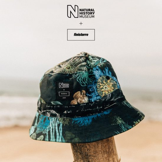 Rose Darling pattern for NHM x Finisterre collection bucket hat
