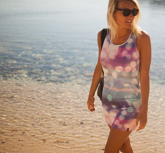 Rose Darling sun flare print for cover up dress